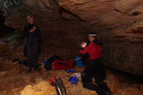 Nurkowanie we Francji, Kurs jaskiniowy w rejonie lot